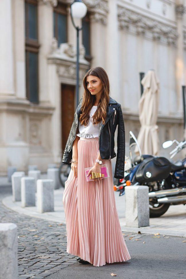 С чем носить юбку-макси городской моднице?