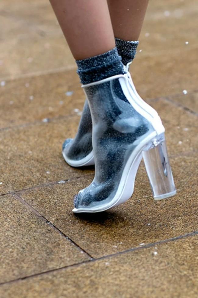 с чем носить резиновые сапоги