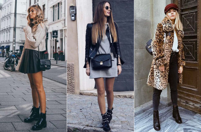 девушки в армейских ботинках
