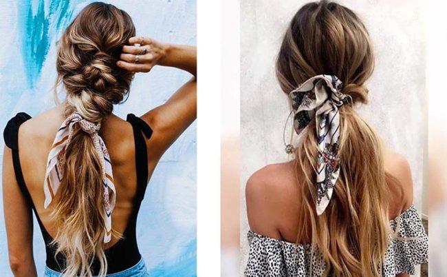 платок в волосах