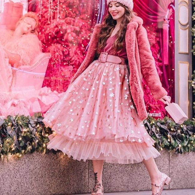 Красивая юбка из шифона