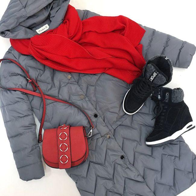 серый с красным