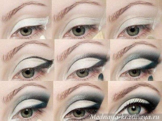 Esquema de maquiagem
