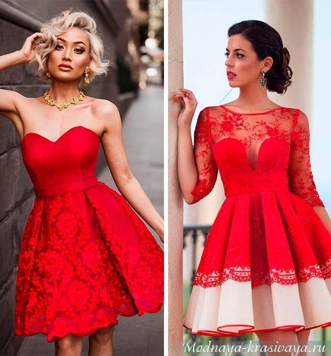 Красные нарядные платья