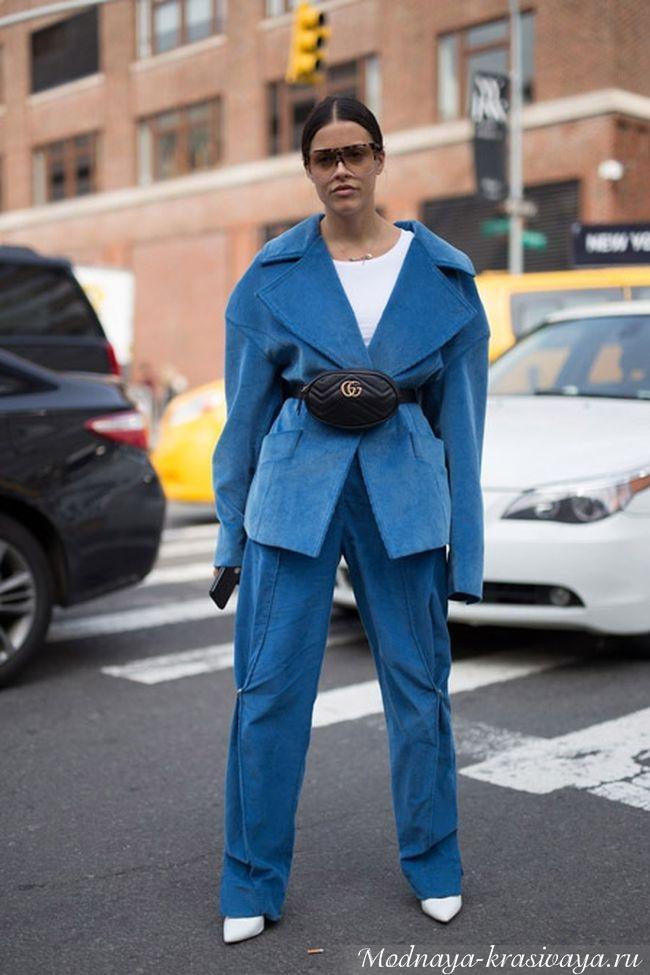 Синий костюм