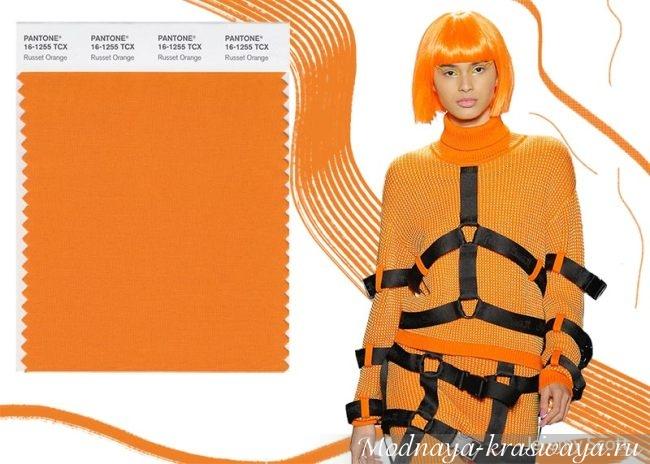 Оранжевый - модный цвет осени