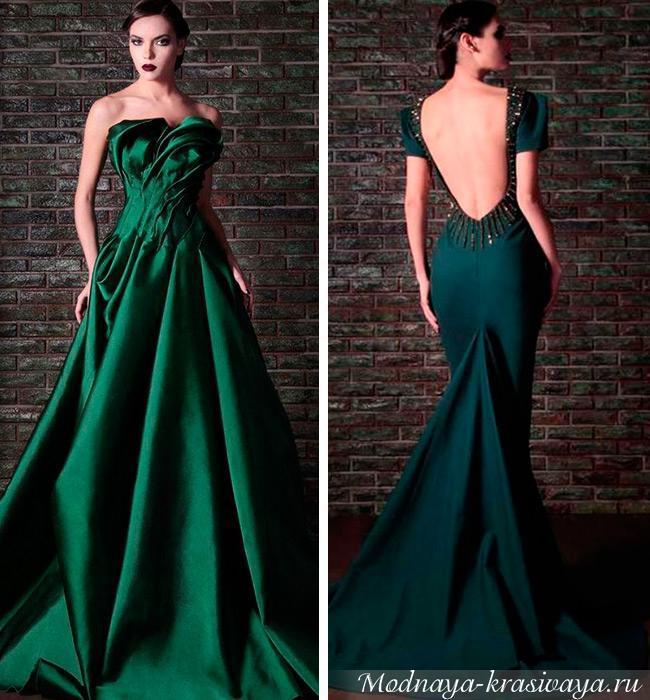 Зеленые платья на выпускной фото
