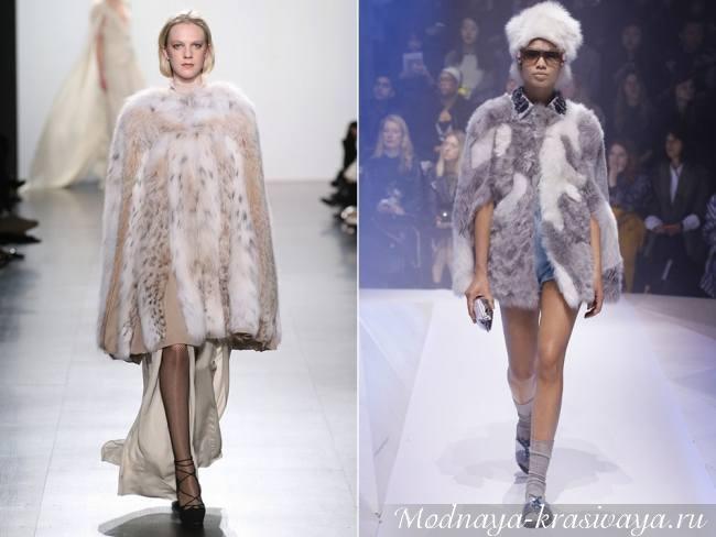 Модный показ дизайнерских мехов