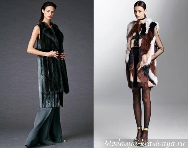 Модный цветной мех
