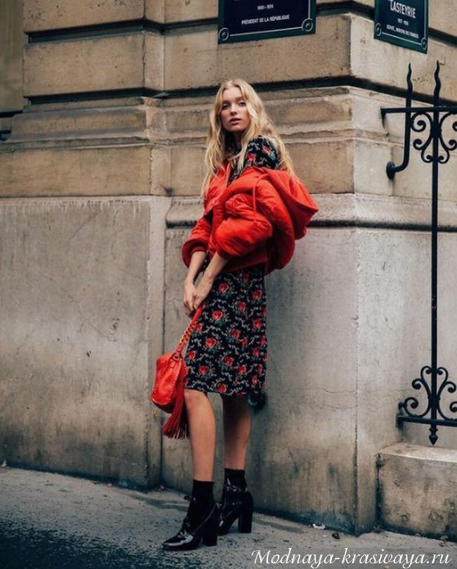 Короткая красная куртка-зевирка