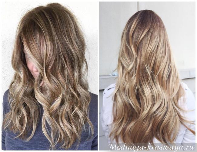 На русые волосы