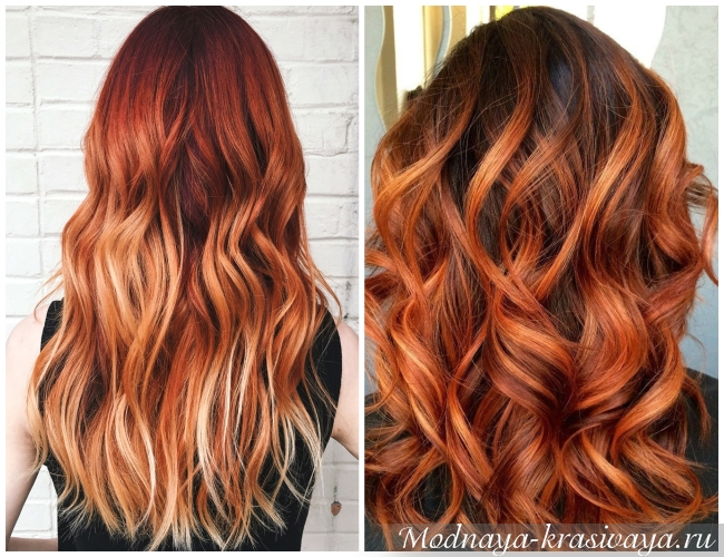 На рыжие волосы