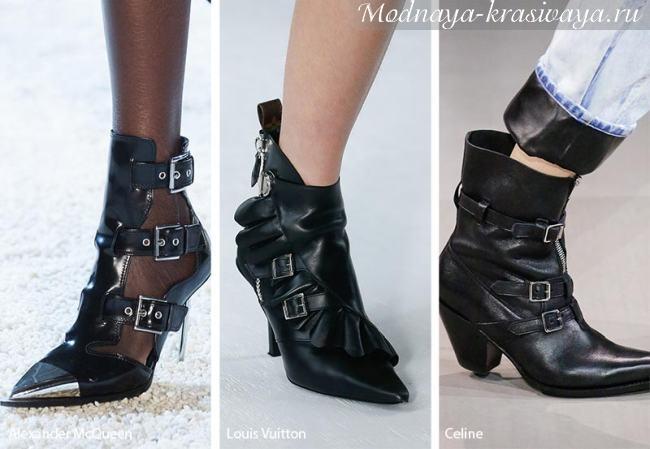 Остроносые ботинки