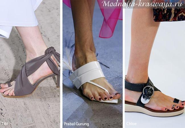 Модная обувь на плоском ходу