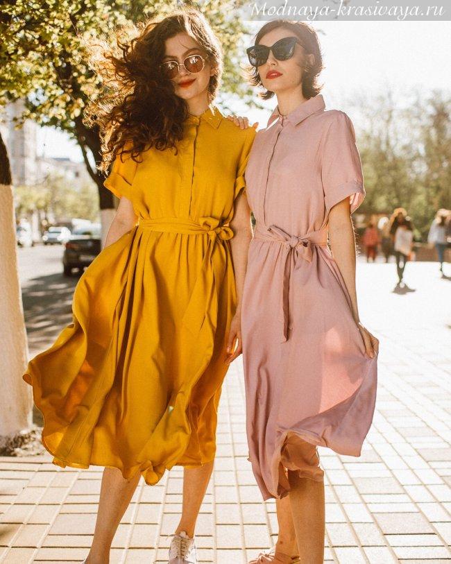 Фасон платья-рубашки