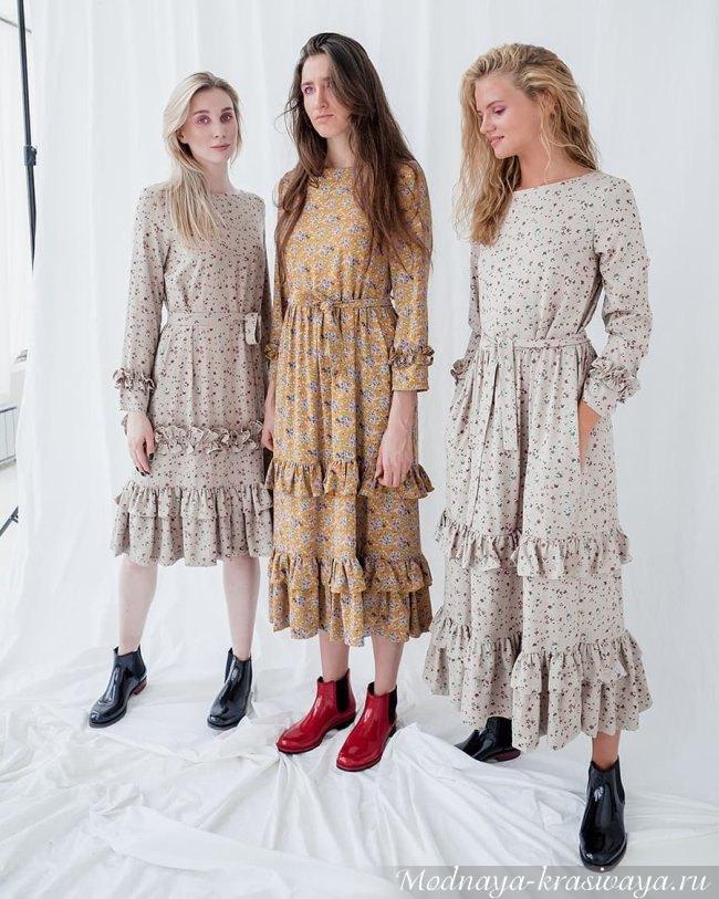 Обувь и платья 2019