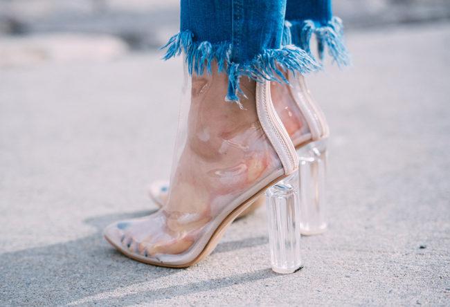 прозрачная обувь на каблуке