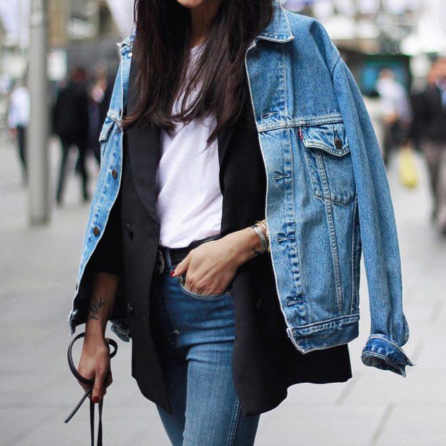 Джинсовая куртка на осень