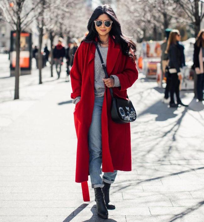 модный красный