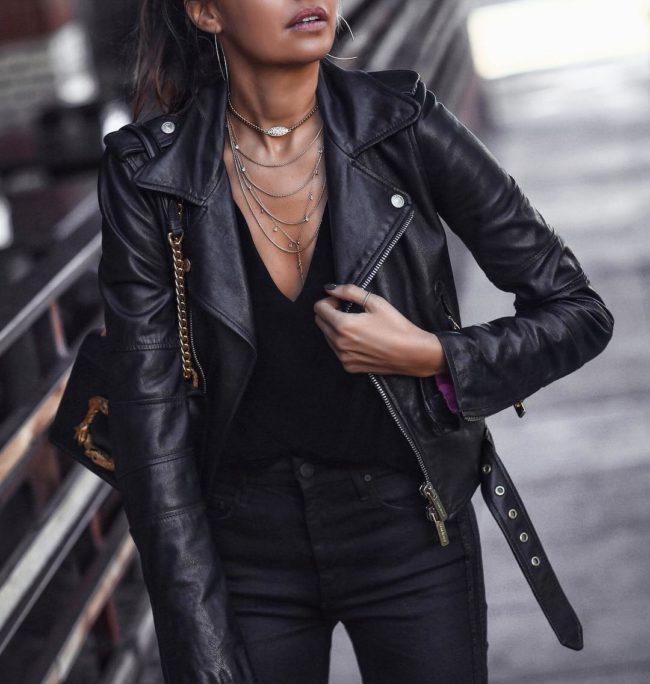 Модные кожаные куртки на осень 2019