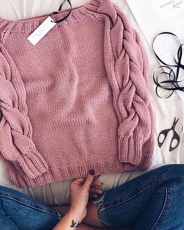 вязаные зимние свитеры