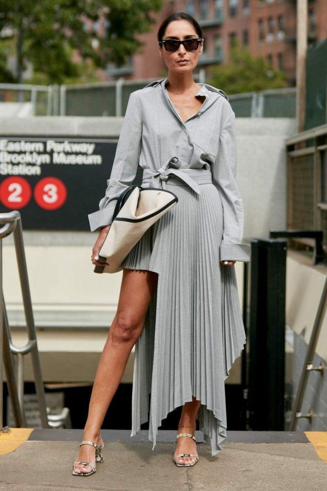 авангардные юбки-плиссе
