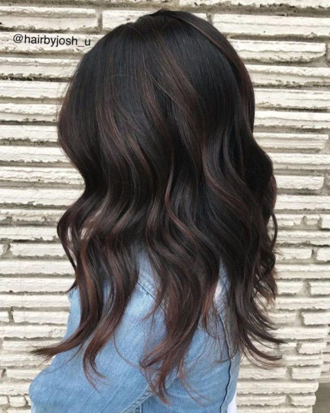 модный цвет волос для брюнеток