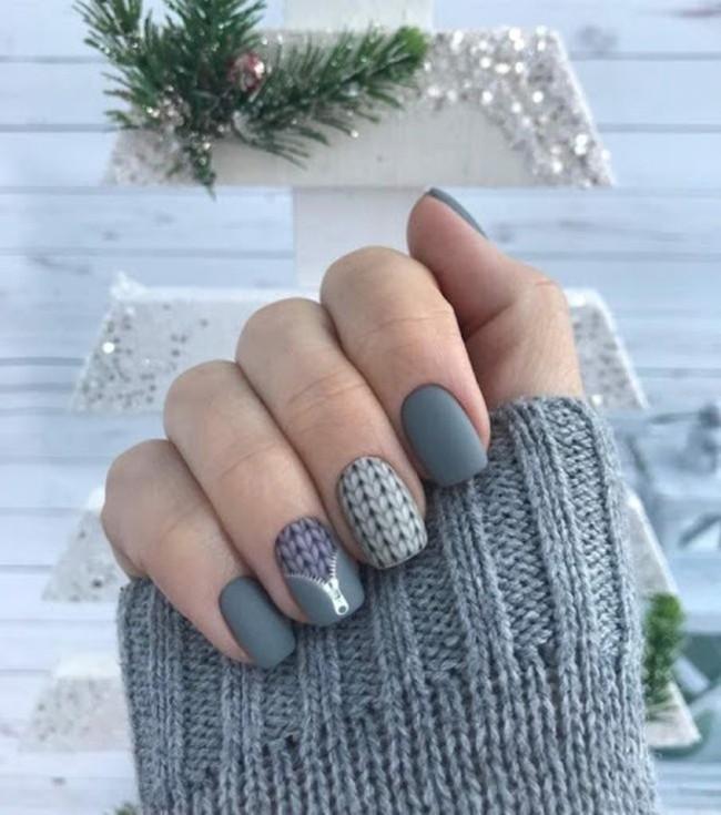 новогодний дизайн ногтей, фото