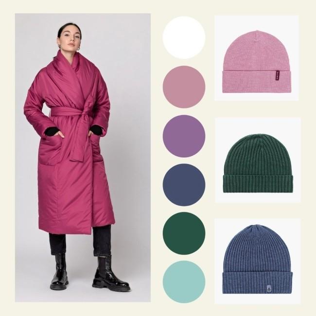 шапка к розовому пуховику