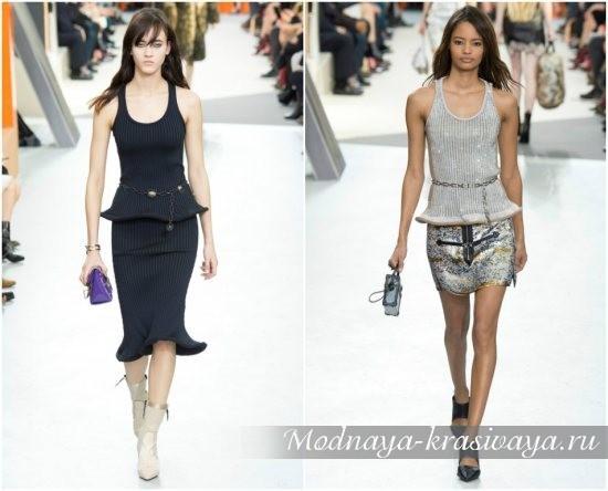 фото с подиума, модные модели