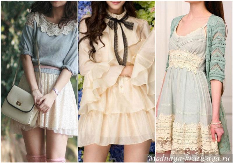 Платья в стиле шебби-шик