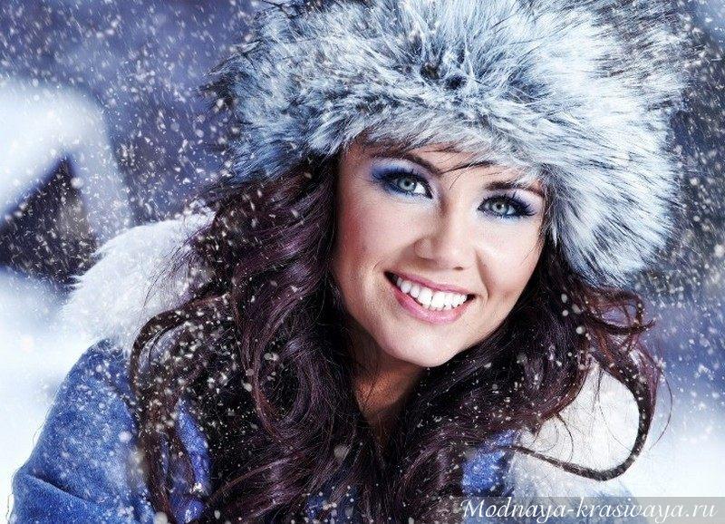 Пушистая шапка для зимы с длинным ворсом