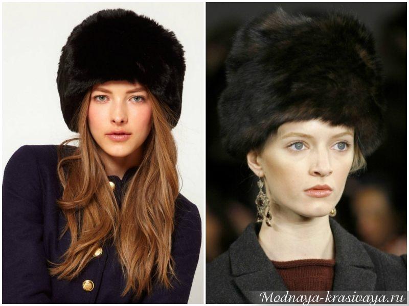 Элегантные шапки черного цвета