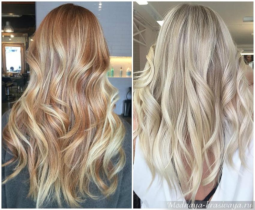 Балаяж - техника окрашивания волос, 60 фото До и После