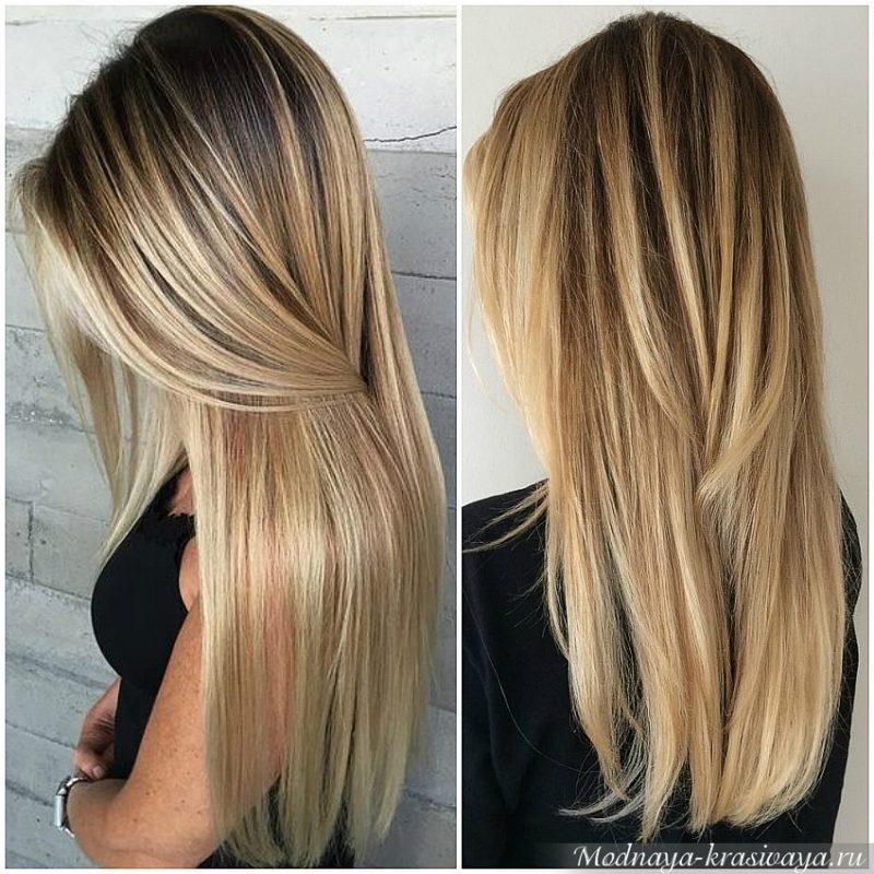 На прямых волосах