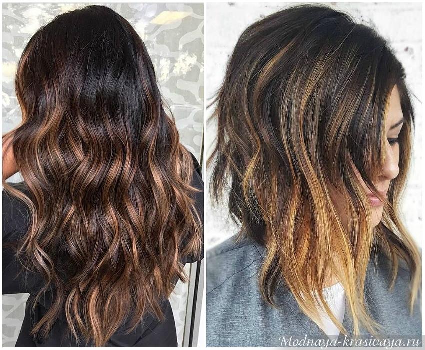 Окрашивание длинных волосах и на средней длине
