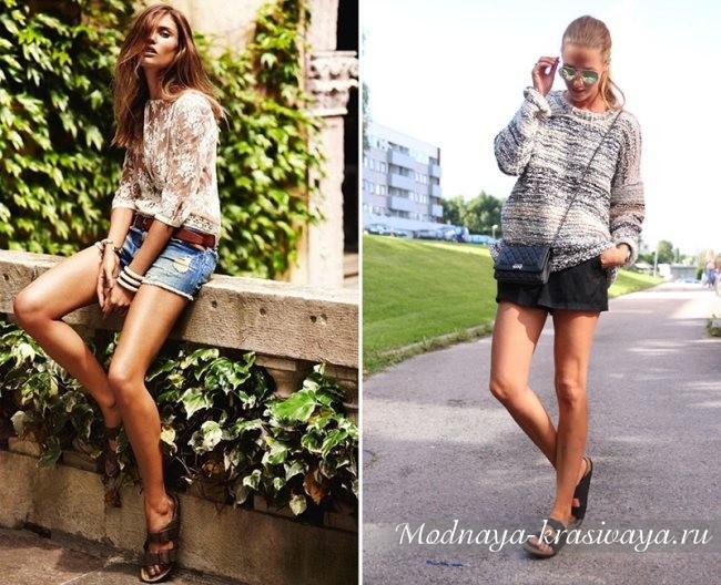шорты и свитер