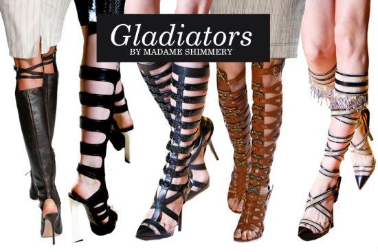 Модные босоножки гладиаторы