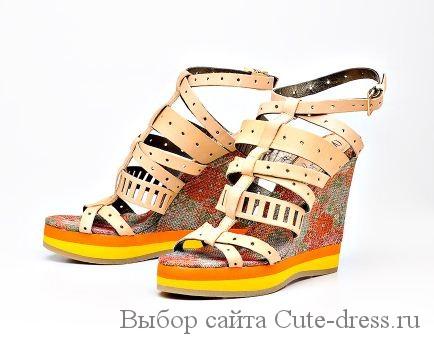 обувь на текстильной плтформе