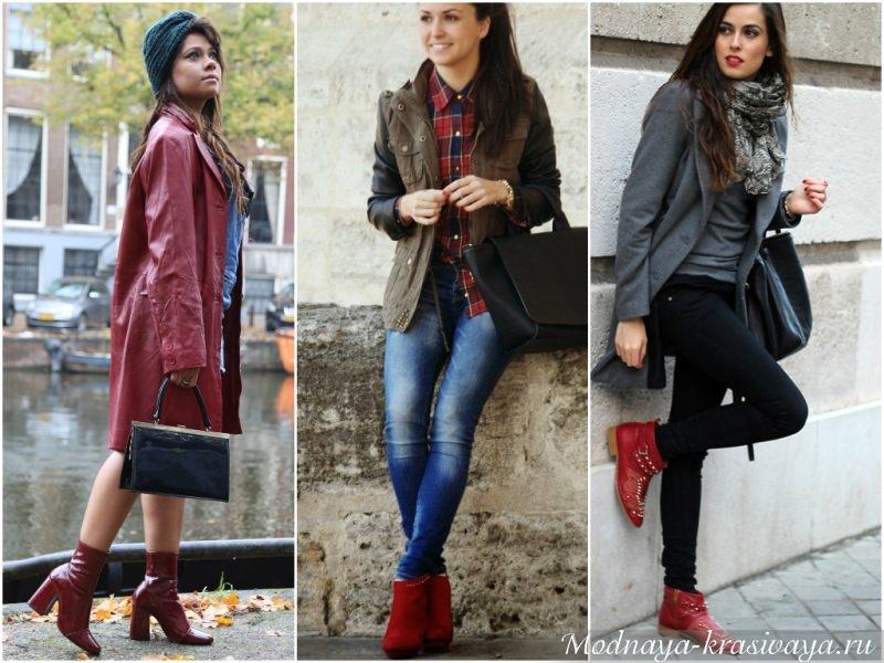 Разнообразие обуви: лаковые, замшевые, с низким каблуком