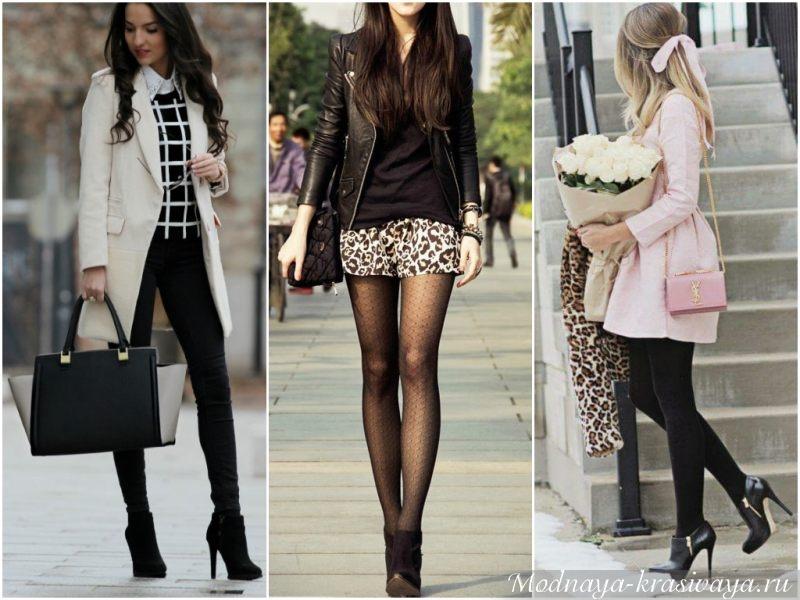 Черные на высоком каблуке - для элегантных девушек