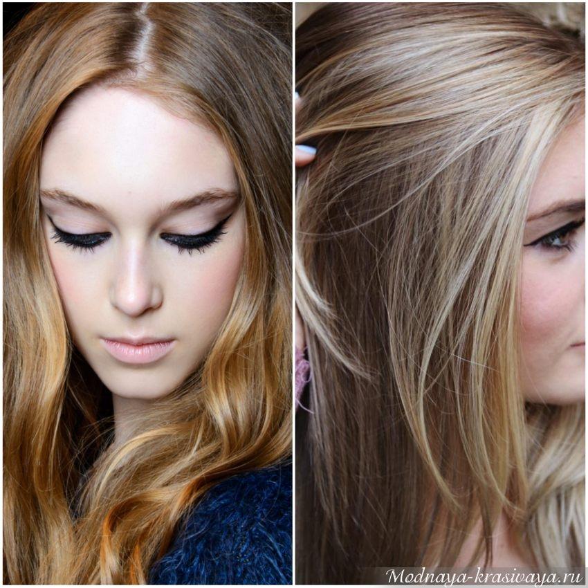 Мягкие переливы цвета на волосах