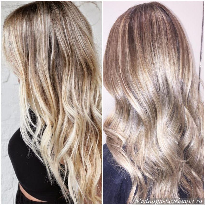 Многоступенчатое окрашивание блондинок