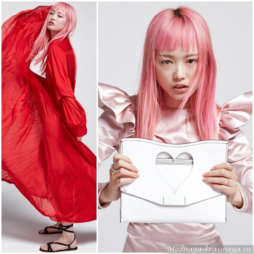 Необычный розовый
