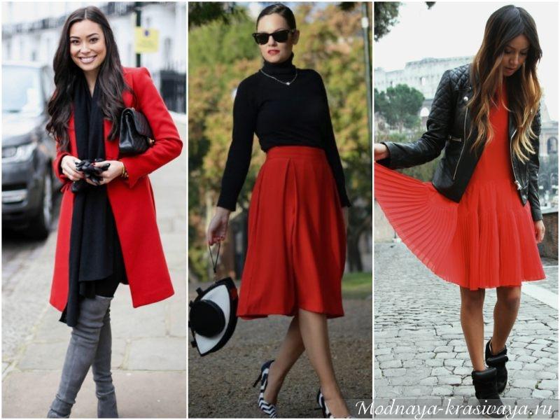 Красный для цветотипа зима