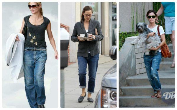 модные джинсовые штаны с прямым кроем