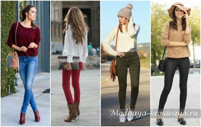 женские модели со свитером