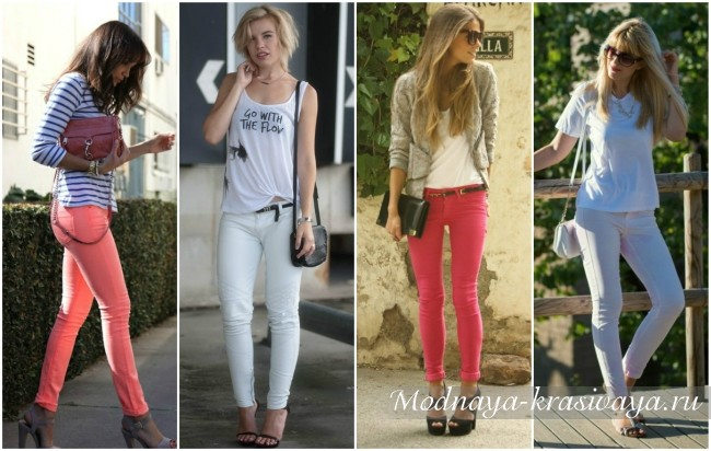 с чем носить джинсы-скинни девушкам