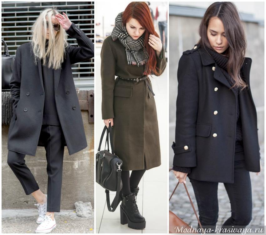 Варианты пальто для фигуры Яблоко
