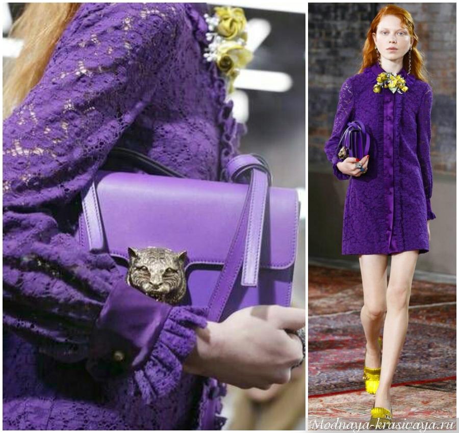 Эксцентричный фиолетовый от Гуччи